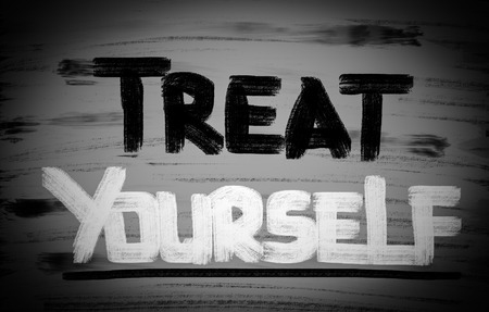 retail therapy: Treat Yourself Concept