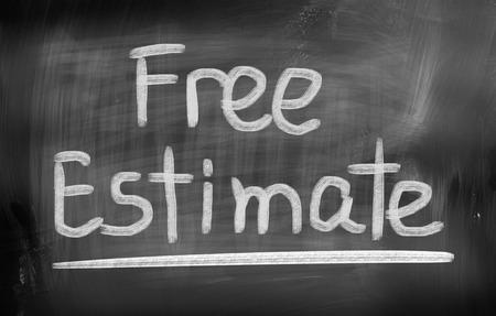 cost estimate: Free Estimate Concept Stock Photo