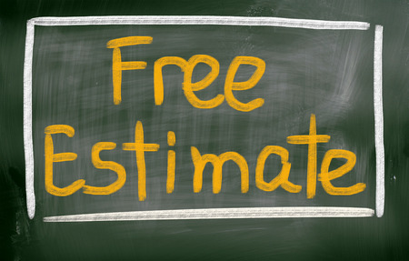 Free Estimate Concept Stock Photo