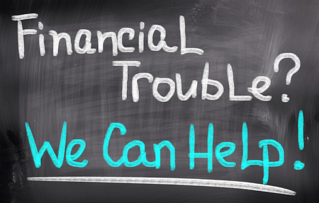trouble: Financial Trouble Concept Stock Photo