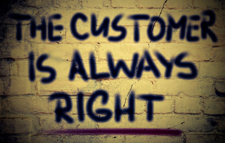 cause marketing: The Customer Is Always Right Concept Stock Photo