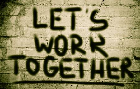 together concept: Vamos a trabajar juntos Concept Foto de archivo