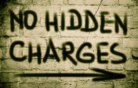 are hidden: No Hidden Charges Concept Stock Photo
