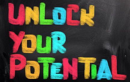 Unlock Your Potential Concept 版權商用圖片