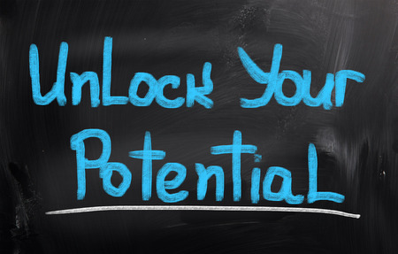 your: Unlock Your Potential Concept Stock Photo