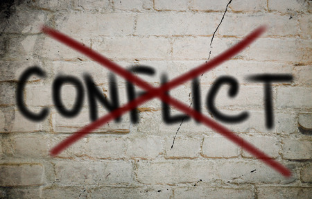 resolved: Conflict Concept Stock Photo