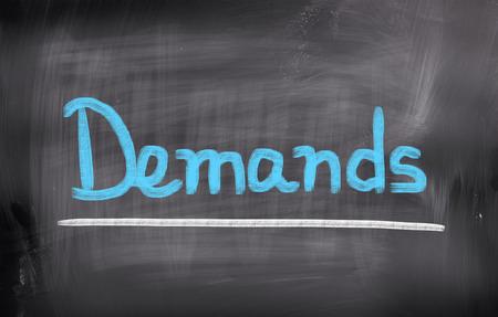 personal god: Demands Concept Stock Photo