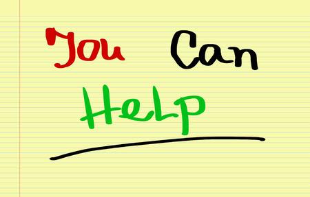 tu puedes: Usted puede ayudar Concept