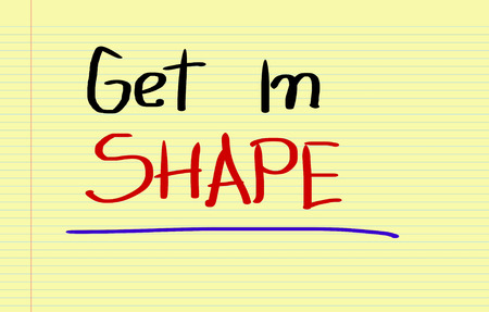 get in shape: Get In Shape Concept Stock Photo