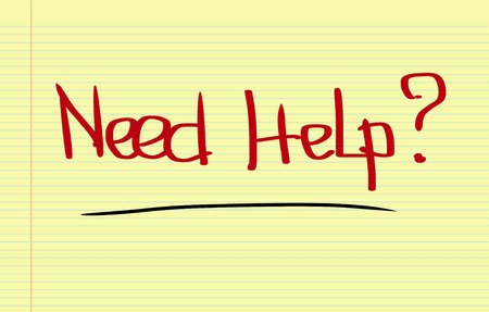 need help: Need Help Concept