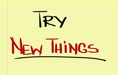 try: Try New Things Concept