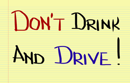 drink and drive: Dont Drink And Drive Concept Stock Photo