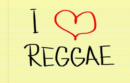 reggae: Je aime Reggae Concept Banque d'images
