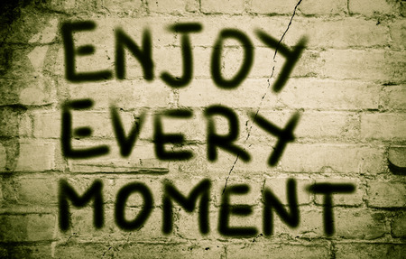 mindful: Enjoy Every Moment Concept