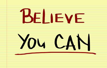 tu puedes: Crea que usted puede Concept