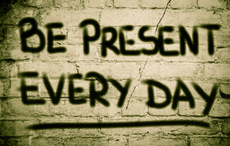 condemned: Be Present Every Day Concept Stock Photo