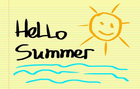 mindfulness: Hello Summer Concept Stock Photo