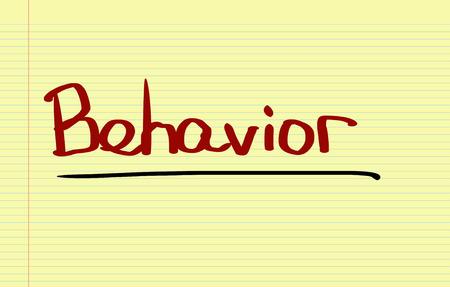 behavior: Behavior Concept Stock Photo