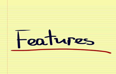 valuables: Features Concept