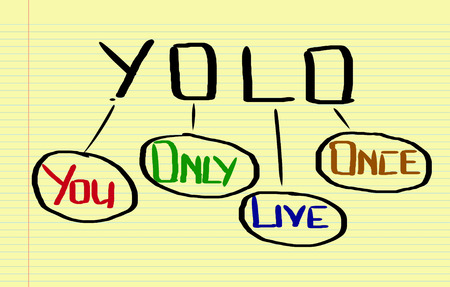 once: You Only Live Once Concept