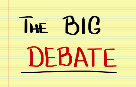 standpoint: The Big Debate Concept Stock Photo