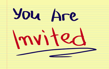 invited: You Are Invited Concept