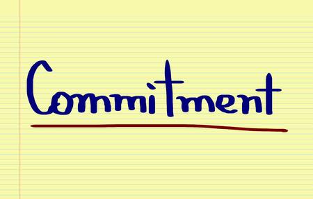 commitment: Concepto Compromiso Foto de archivo