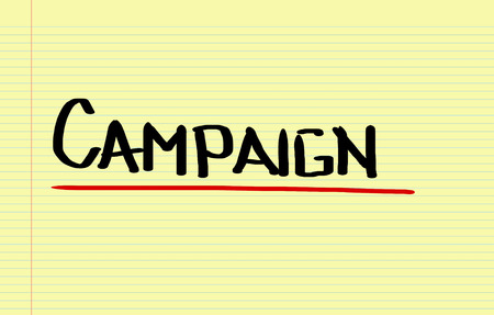 campaign: Campaign Concept Stock Photo