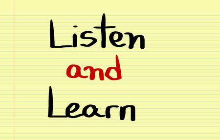 summarize: Listen And Learn Concept