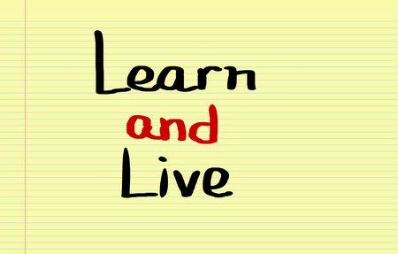 summarize: Learn And Live Concept
