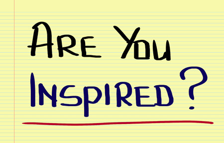 inspired: Are You Inspired Concept Stock Photo