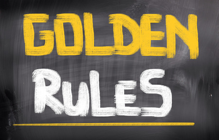 accountability: Golden Rules Concept Stock Photo
