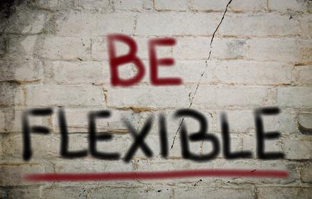 easygoing: Be Flexible Concept