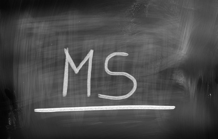 sclerosis: Multiple Sclerosis Concept Stock Photo