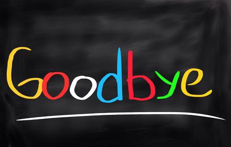 good bye: Good Bye Concept