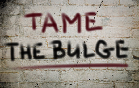 bulge: Tame The Bulge Concept Stock Photo