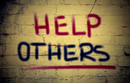raising cans: Help Others Concept