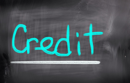 bank records: Credit Concept Stock Photo
