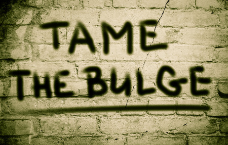 tame: Tame The Bulge Concept Stock Photo