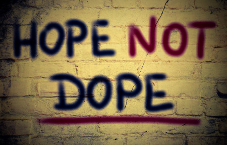 dope: Hope Not Dope Concept Stock Photo