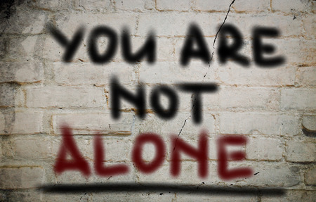 alone: You Are Not Alone Concept
