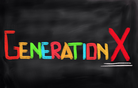 generation x: Generation X Concept Stock Photo