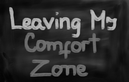 in the zone: Leaving My Comfort Zone Concept Stock Photo