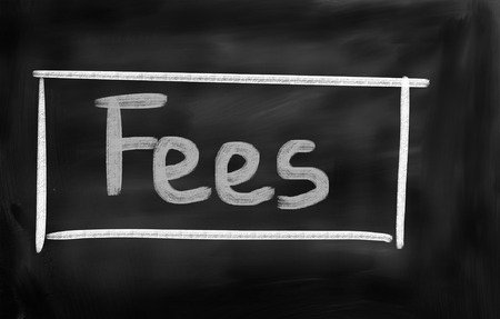 fees: Fees Concept Stock Photo