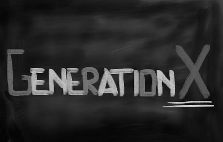 Generation X Concept Stock Photo