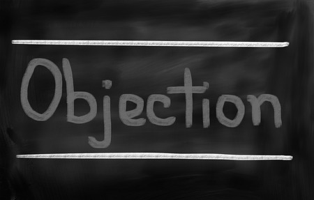 objection: Objection Concept Stock Photo