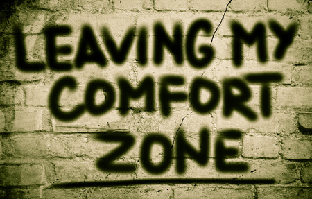 happenings: Leaving My Comfort Zone Concept Stock Photo