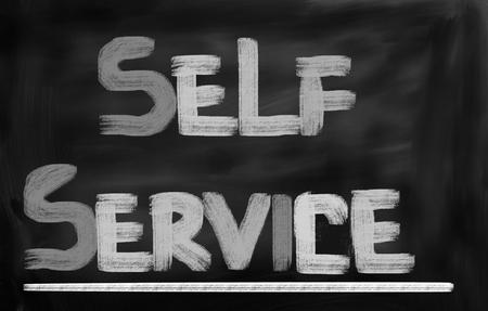 business service: Self Service Concept