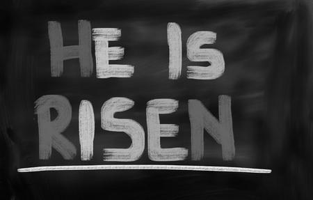christian faith: Hi Is Risen Concept