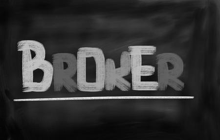 corredor de bolsa: Broker Concepto